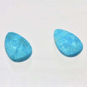 2 Faceted Turquoise Pear Briolette Beads | 18x12x5.5mm | Blue | 7410 - PremiumBead Alternate Image 4