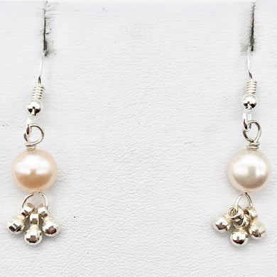 Gorgeous Natural Fresh Water Pearl Solid Sterling Silver Earrings | 1 1/4 inch | - PremiumBead
