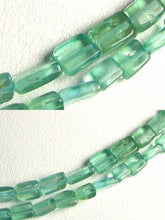 Load image into Gallery viewer, Natural Teal Apatite Cube Tube Bead Strand 109642 - PremiumBead
