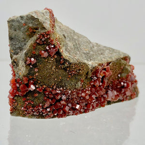 Vanadinite - Orange Red Sparkling Crystals Display Specimen |45x35x28mm | 36.2gr - PremiumBead