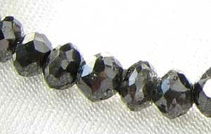 1 Fancy Color 0.55cts Natural Black Diamond Roundel Bead 9892E - PremiumBead