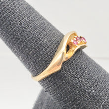 Load image into Gallery viewer, Three Stone Natural Red Ruby in Solid 14Kt Yellow Gold Ring Size 6 9982x - PremiumBead