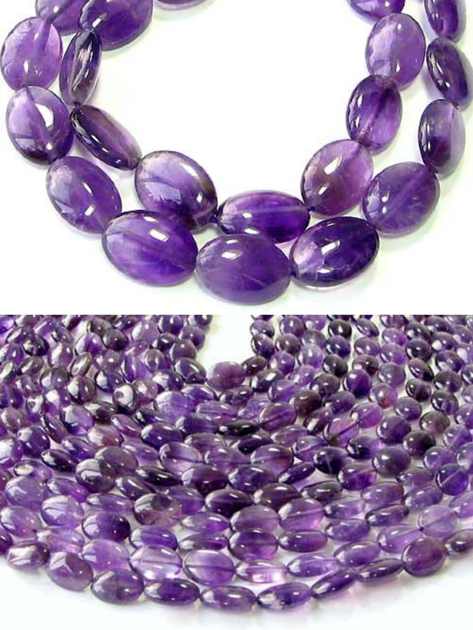 3 Yummy Natural Amethyst 14x10mm Oval Beads 009161 - PremiumBead