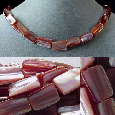 2 Beads of Natural Dark Pink Mussel Shell Beads 4324 - PremiumBead Primary Image 1