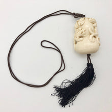 Load image into Gallery viewer, Intricate Waterbuffalo Bone Leopard Dragon Leaf Necklace 8128K - PremiumBead Alternate Image 3