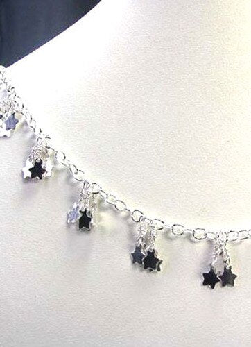 Twinkle Silver 5mm Star Charm Chain 6 inches 9405 - PremiumBead