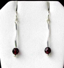 Load image into Gallery viewer, Unique Sophistication Garnet & Silver Earrings 6428 - PremiumBead Primary Image 1