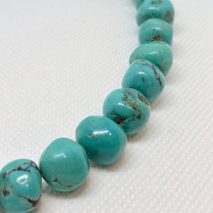 3 Natural Turquoise 12.5x9 to 12x11.5mm Nuggety Beads 2191 - PremiumBead