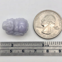 Load image into Gallery viewer, 26.8cts Hand Carved Buddha Lavender Jade Pendant Bead | 21x15x9.5mm | Lavender - PremiumBead