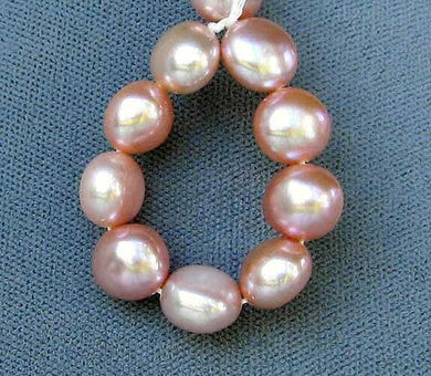 Natural 9 Peach Freshwater Button Pearls 004477 - PremiumBead