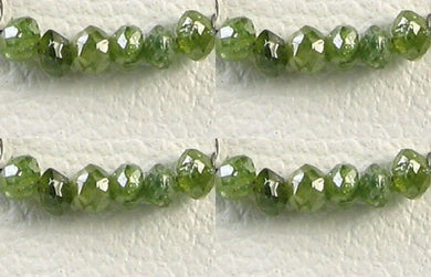 4 Premium 0.26cts Parrot Green Diamond Faceted Beads 9605DX - PremiumBead Primary Image 1