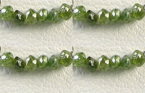 4 Premium 0.26cts Parrot Green Diamond Faceted Beads 9605DX - PremiumBead