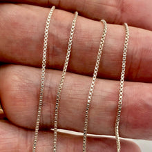 Load image into Gallery viewer, Sterling Silver Fine Box Chain 1mm - PremiumBead