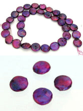 Load image into Gallery viewer, 4 Magenta Madness Freshwater Coin Pearls 7276 - PremiumBead