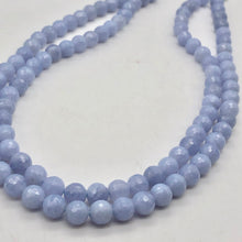 Load image into Gallery viewer, 8 AAA Faceted 8mm Blue Chalcedony Beads - PremiumBead