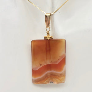 "Hand Carved Carnelian Agate and 14K Gold Filled 2 1/8"" Pendant 506759B - PremiumBead Alternate Image 4"