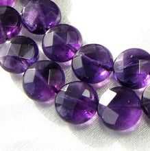 Load image into Gallery viewer, 3 Royal Natural 10mm Amethyst Coin 9431 - PremiumBead