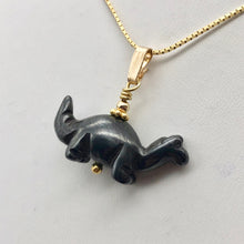 Load image into Gallery viewer, Hematite Diplodocus Dinosaur with 14K Gold-Filled Pendant 509259HMG - PremiumBead Alternate Image 3