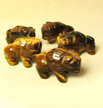 Load image into Gallery viewer, Blessing 2 Tiger's Eye Hand Carved Bison / Buffalo Beads | 21x14x8mm | Golden Brown - PremiumBead