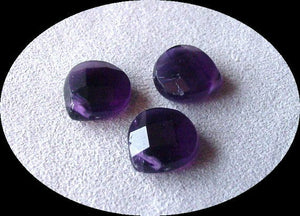 3 Amethyst Faceted Briolette Beads | 11x5mm | Imperial Purple | 4672 - PremiumBead