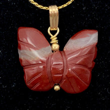 Load image into Gallery viewer, Jasper Butterfly Pendant Necklace | Semi Precious Stone Jewelry | 14k gf Pendant - PremiumBead