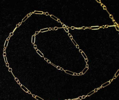 Shimmer 14Kgf Open Link Chain 6 inches 10332 - PremiumBead Primary Image 1