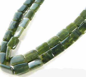 Glory Nephrite Jade Rectangle 8 inch Bead Strand 009375HS - PremiumBead Primary Image 1