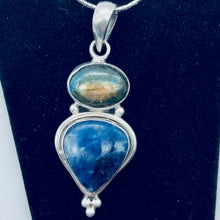 Load image into Gallery viewer, Exotic Labradorite, Blue Sodalite and Sterling Silver Pendant Necklace - PremiumBead
