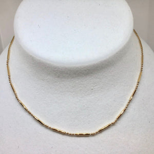 "24"" Vermeil Waterfall Chain Necklace 10086C - PremiumBead"