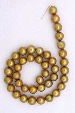 3 Golden Horizons Large 9 to 11mm FW Pearls 9060 - PremiumBead