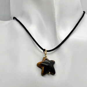 Tiger Eye Starfish Pendant Necklace | Semi Precious Stone | 14k gf Pendant - PremiumBead Alternate Image 7