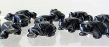 Load image into Gallery viewer, Prosperity 2 Hand Carved Hematite Frog Beads | 20x18x9.5mm | Silver black - PremiumBead