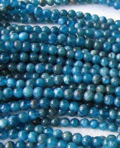 17 Stunning Blue Apatite 4mm Round Beads 008889B - PremiumBead Alternate Image 3