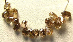 0.24cts Natural Fancy Champagne Diamond Briolette Bead 6569XK - PremiumBead Primary Image 1