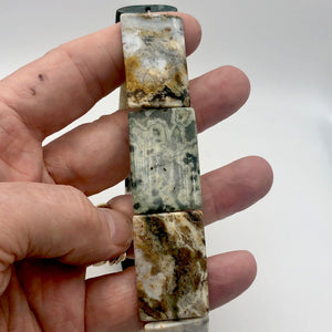 Ocean Jasper 36x24x4mm Amazing Rectangular Bead Strand - PremiumBead Alternate Image 8