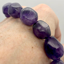 Load image into Gallery viewer, Grape Candy Amethyst Large Nugget Focal Bead Strand - PremiumBead