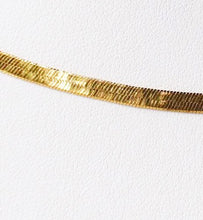 "Load image into Gallery viewer, 16"" Vermeil 4mm Flex Herringbone Chain Necklace 10026A - PremiumBead"