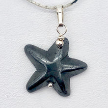 Load image into Gallery viewer, Hematite Starfish Pendant Necklace | Semi Precious Stone | Silver Pendant | - PremiumBead