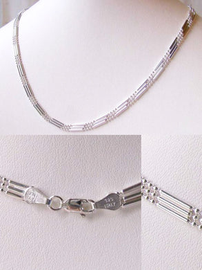 Italian Silver 3 Waterfall Chain 18