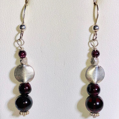 Garnet & Sterling Silver Earrings Amazing 300041 - PremiumBead Primary Image 1