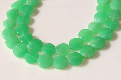 Radiant 2 Natural Chrysoprase Agate 12x5mm Coin Beads 9574C - PremiumBead Primary Image 1