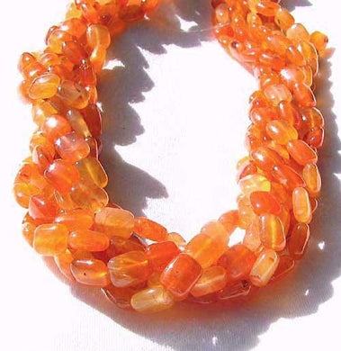 Luscious! Six Natural Carnelian Agate Focal Beads 8943 - PremiumBead Primary Image 1