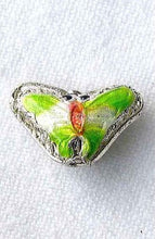 Load image into Gallery viewer, 5 Spring Green Cloisonne Butterfly Pendant Beads 008635A - PremiumBead