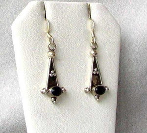 Stunning Oval Black Onyx 925 Sterling Silver Drop/Dangle Earrings W/Hook 4719 - PremiumBead