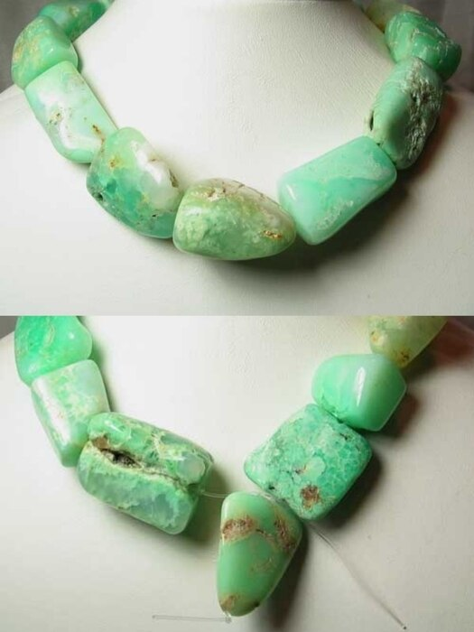 1225cts Designer Natural Chrysoprase Nugget Bead Strand 108491Z - PremiumBead