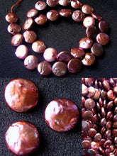 Load image into Gallery viewer, 3 Sensational Pink Gold FW Coin Pearls 8317 - PremiumBead