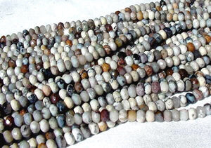Wild Crazy Lace Agate Faceted Roundel Bead Strand 105611 - PremiumBead Alternate Image 2