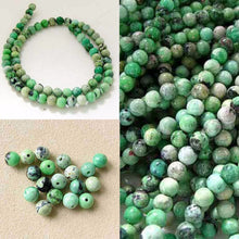 Load image into Gallery viewer, Mojito Minty Green Turquoise 5.5mm Round Bead Strand 107415 - PremiumBead