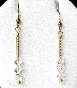 Holiday Sparkle AAA Quartz Earrings and 14Kgf 6270 - PremiumBead