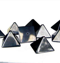 Load image into Gallery viewer, shine-2-hand-carved-hematite-pyramid-beads-9289hm-10989